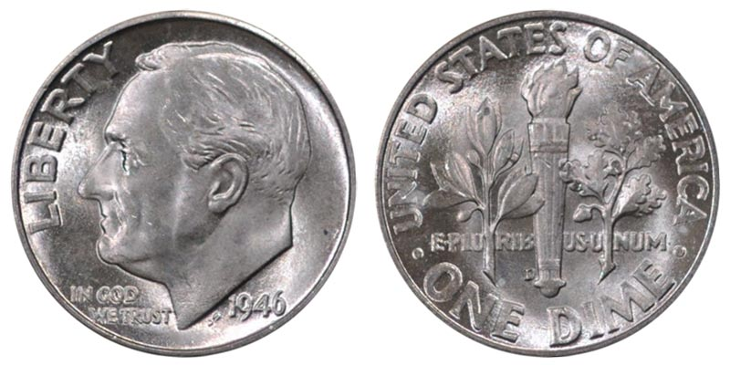 2007 D Roosevelt Uncirculated Dime ~ BU Raw Coin from Bank Roll