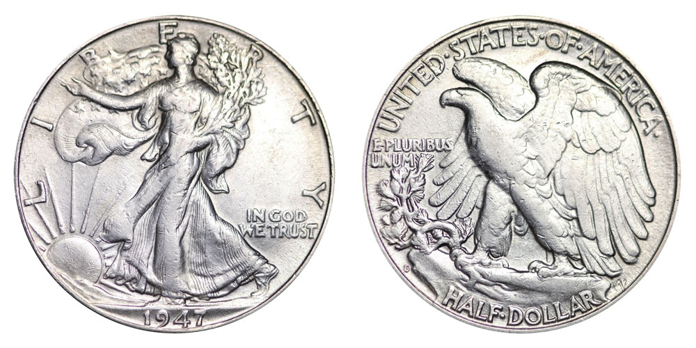 1947 D Walking Liberty Half Dollars Value And Prices