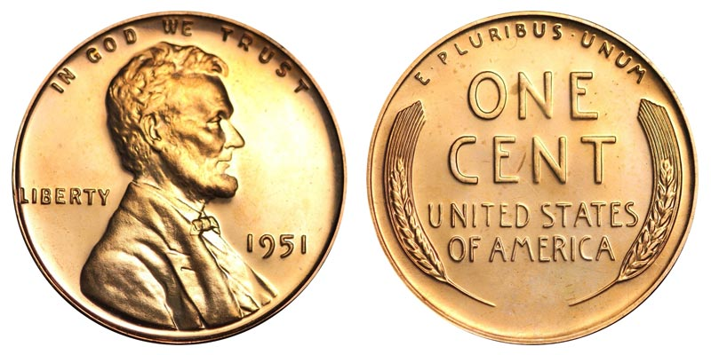 1951 Lincoln Wheat Penny Coin Value Prices, Photos & Info