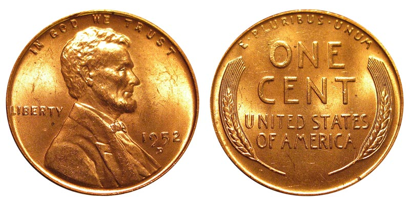 1952 D Lincoln Wheat Cent Bronze Composite Penny Value