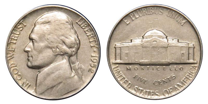 1952 Jefferson Nickel Coin Value Prices, Photos & Info