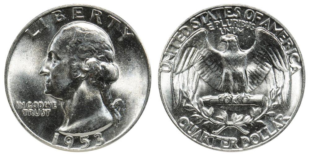 1951 S 25c Washington Silver Quarter US Coin BU Uncirculated Mint State