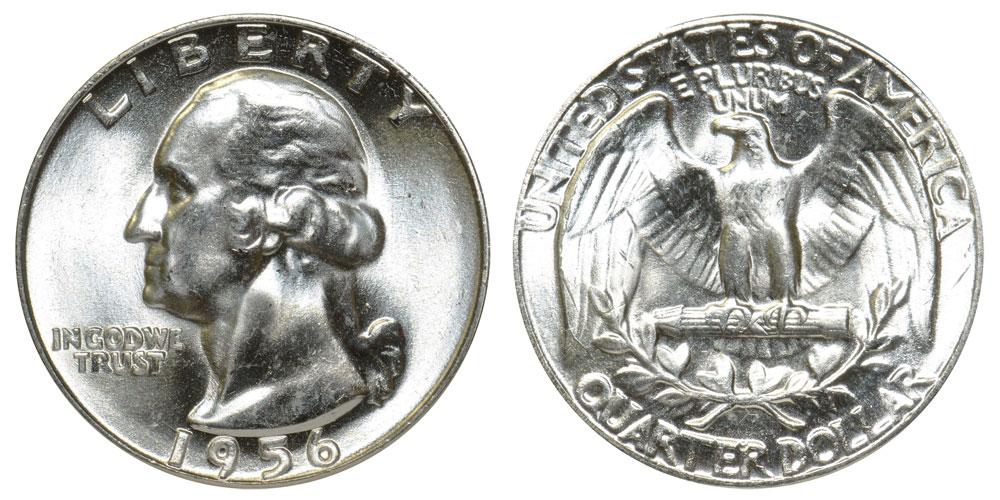 1955 Washington Quarter //// Gem Proof *In Cello* //// 90/% Silver //// 1 Coin
