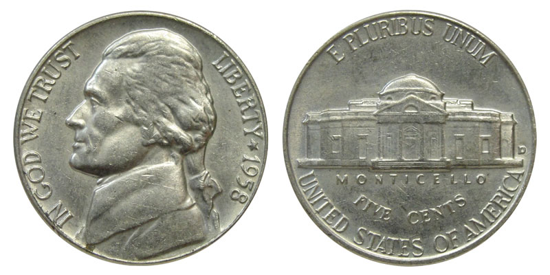 $20 Gem UNC Coins Denver 10 Rolls of 2018 D Jefferson Nickels BU Uncirculated