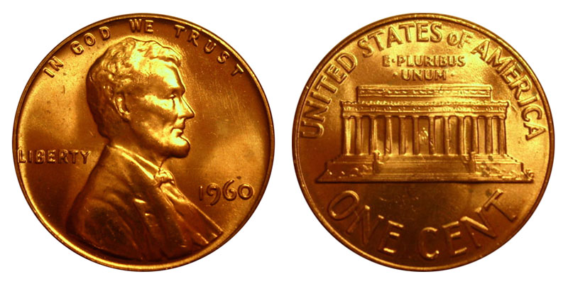 Uncirculated Roll 1960 P Lincoln Memorial Cents Pennies
