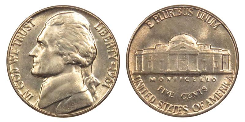 1961 5c Jefferson Nickel US Coin Choice Proof