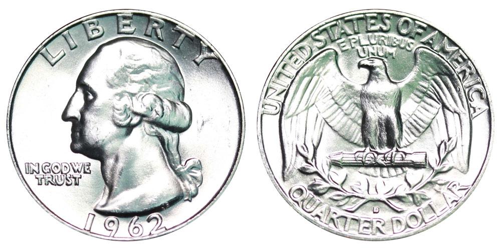 1962 D Washington Silver Quarter Coin