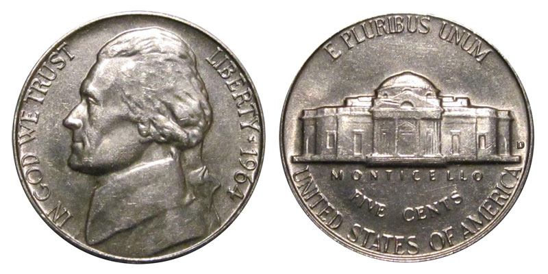 1964 D Jefferson Nickel Coin Value Prices, Photos & Info