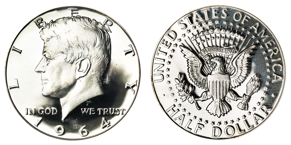 1964 Kennedy Silver Half Dollars 90 Silver Value And Prices