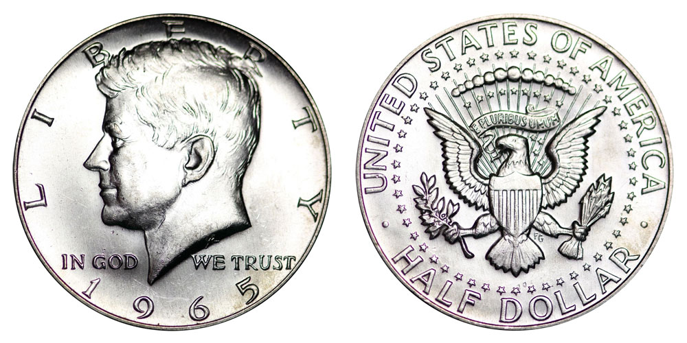 1965 Kennedy Silver Half Dollar 40 Silver Coin Value