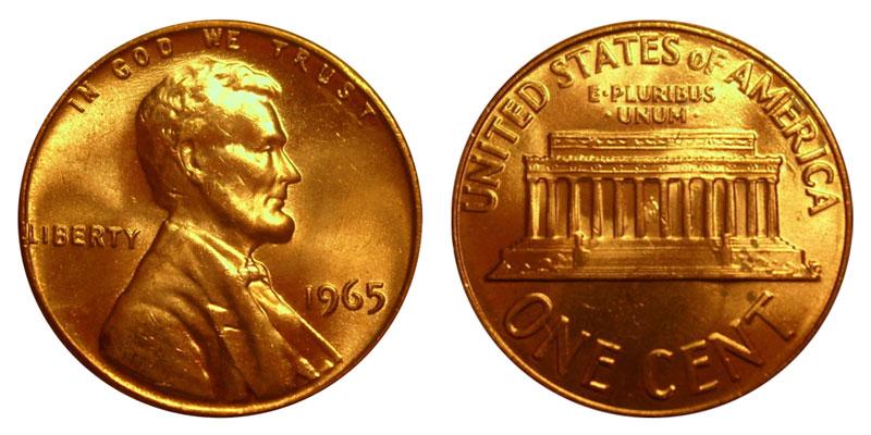 1965 Lincoln Memorial Penny Coin Value Prices, Photos & Info