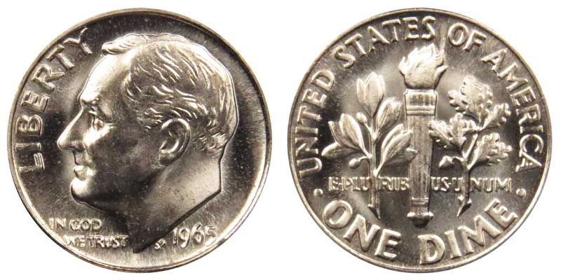 1965 Roosevelt Dimes Value And Prices