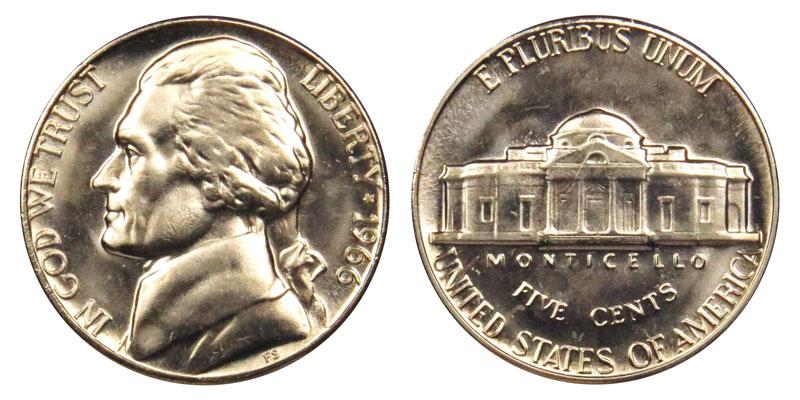 1966 Jefferson Nickel Coin Value Prices, Photos & Info