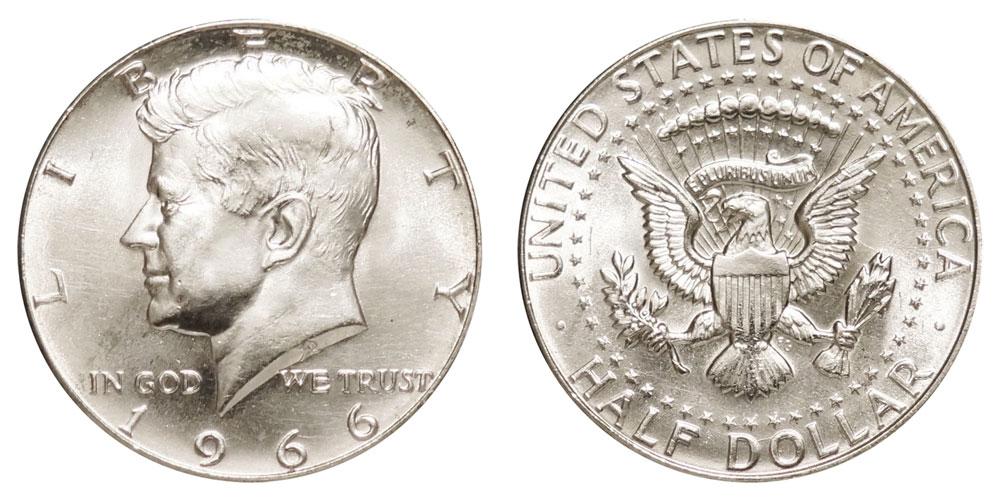 1966 Kennedy Silver Half Dollar 40% Silver Coin Value Prices