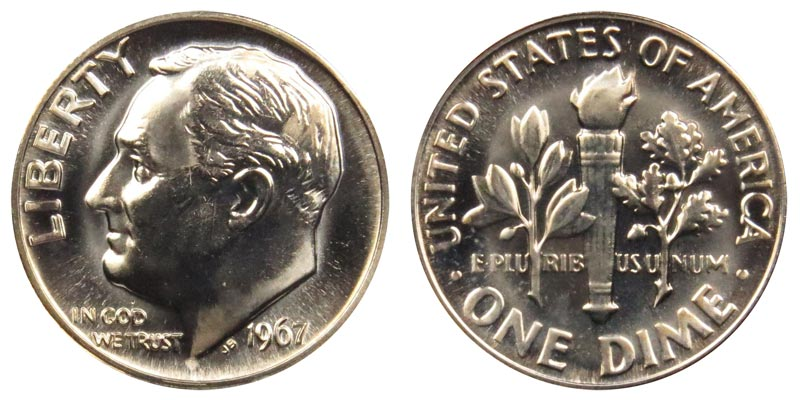 1965 1966 1967 Roosevelt Dime Lot Special Mint Set Coins 10 Cents SMS Three 10c