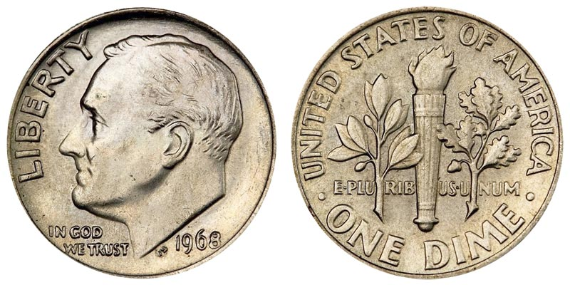 1968 Roosevelt Dimes Value And Prices