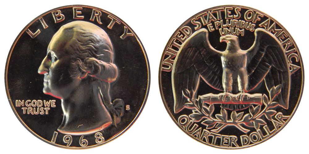 1968 US Washington Quarter