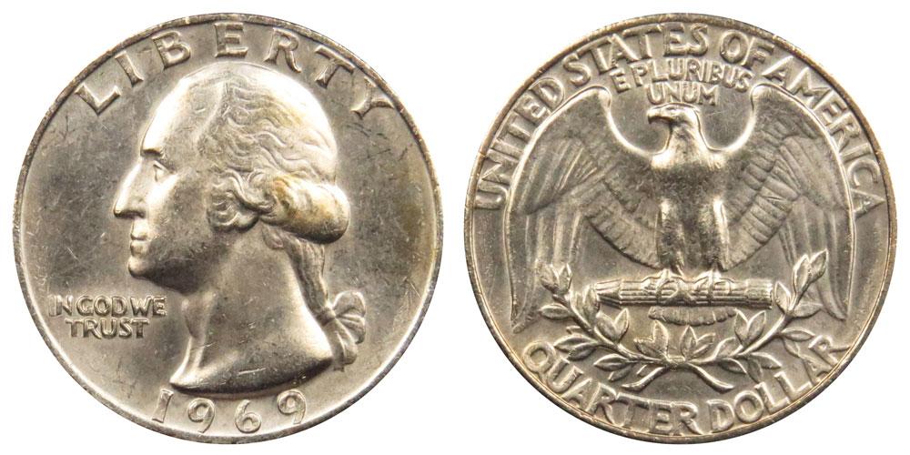 Circulated 1969-P Washington Quarter