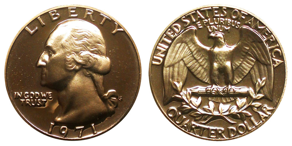 1971-S Proof Washington Clad Quarter Shipped FREE Best Price on  Nice Coins!