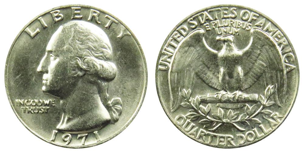 1971-P /& 1971-D Gem BU Washington Quarters in Original Mint Cello Packs FREE S/&H