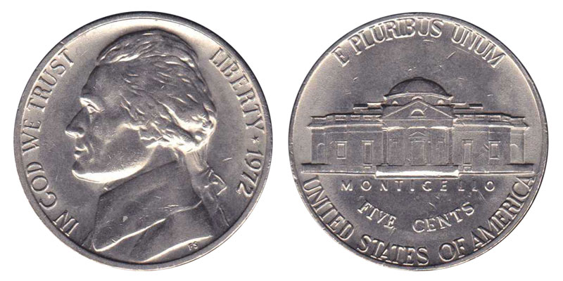 1972 S Jefferson Nickel Gem Proof