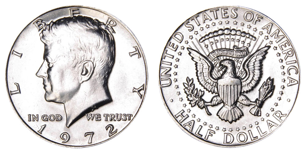 1972 Kennedy Half Dollars Clad Composition Value And Prices
