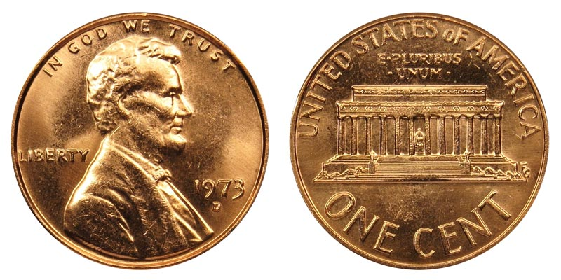 1973 D Lincoln Memorial Penny Coin Value Prices Photos Amp Info