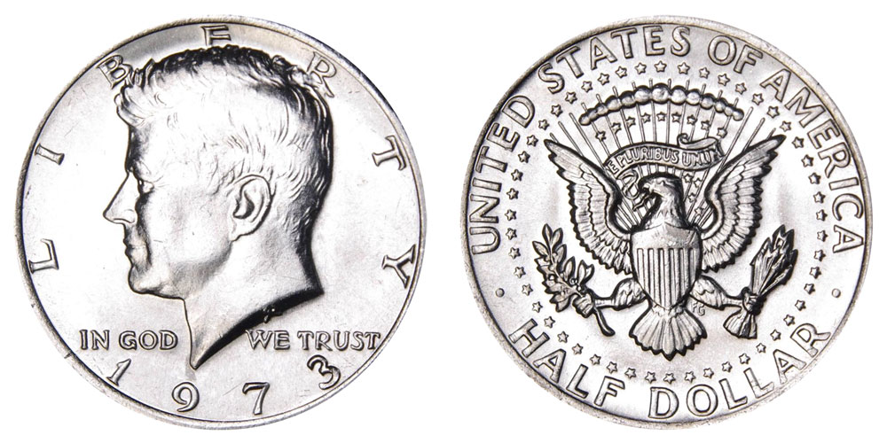 95fa82d2a 1973 Kennedy Half Dollar Coin Value Prices