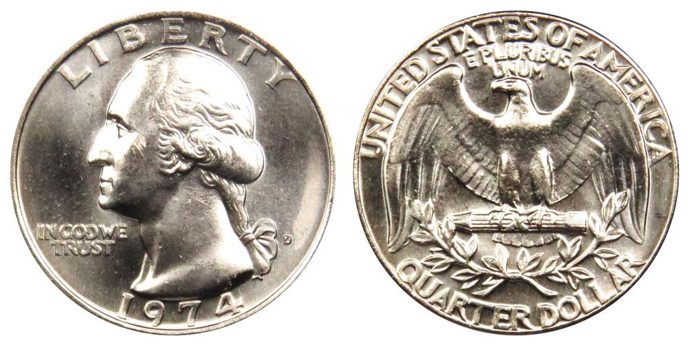 1974 D Washington Quarter Coin Value Prices, Photos & Info