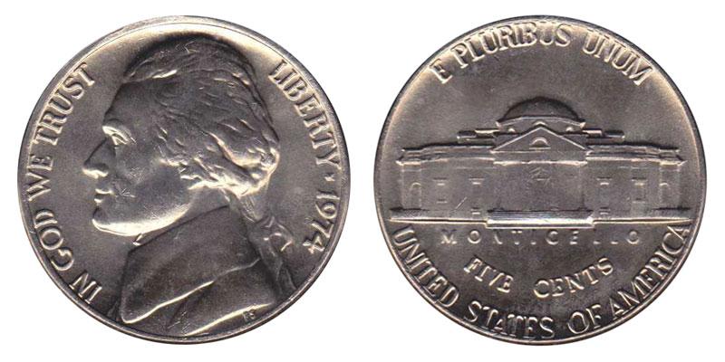 1975 P JEFFERSON NICKEL  *MINT CELLO*   **FREE SHIPPING**