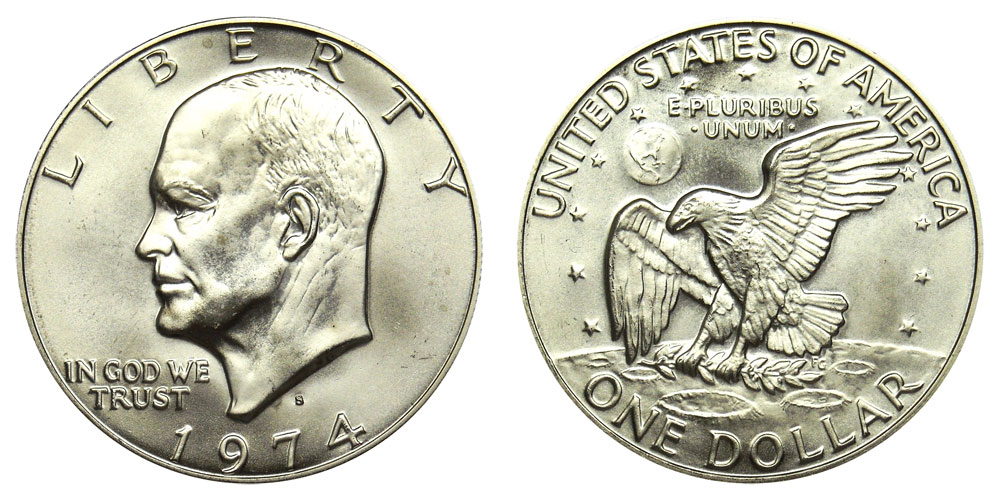 Eisenhower Silver Clad Dollar 1972S