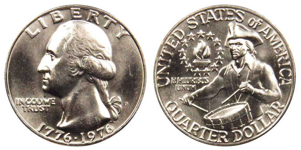 BU 1976 P Washington Bicentennial Quarter Dollar Philadelphia 25 Cent Coin