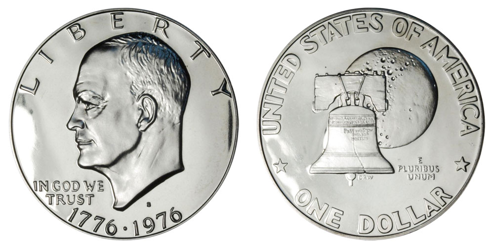 1976 S Type 1 Silver Proof Bicentennial Eisenhower Dollar