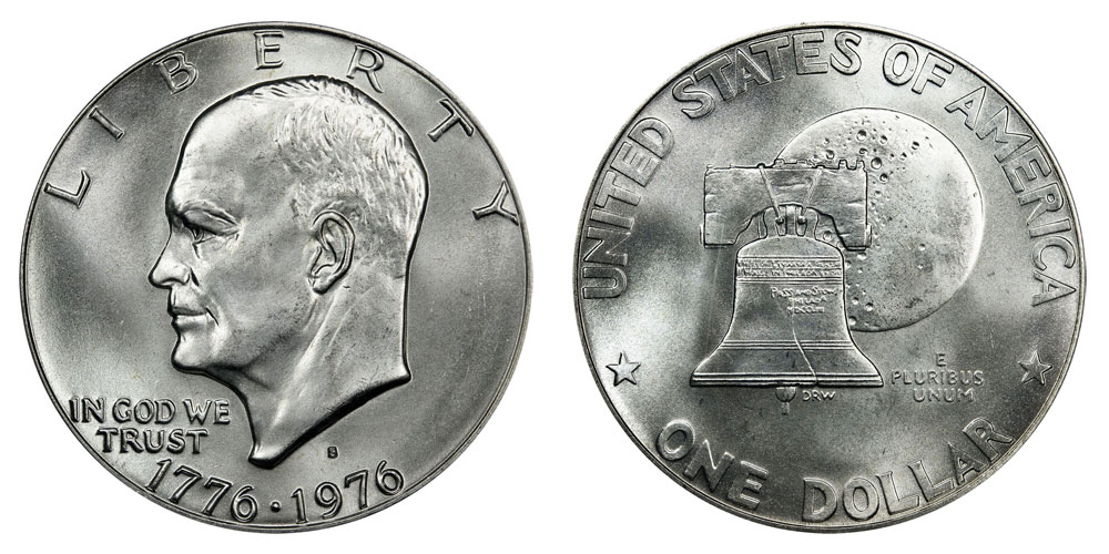 1976 S Eisenhower Dollars 40 Silver Type 1 Low Relief