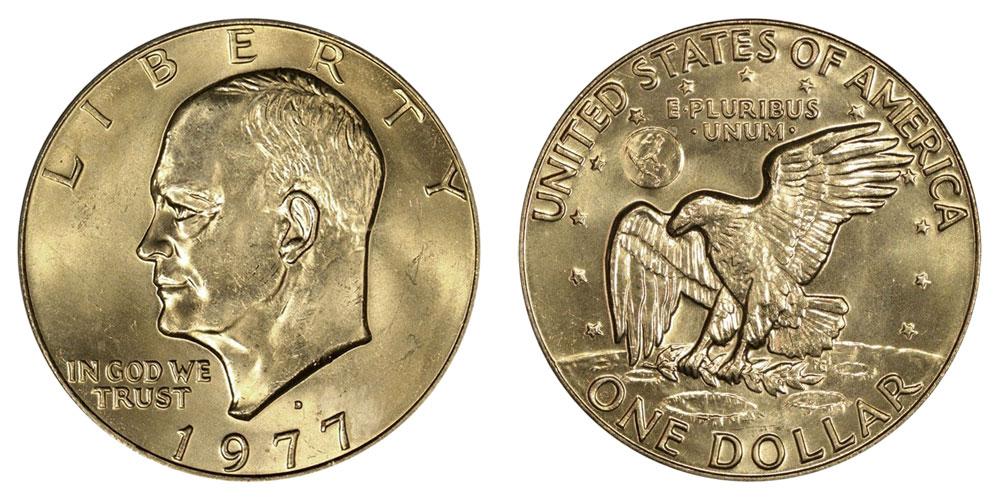 1977-D BU EISENHOWER  DOLLAR