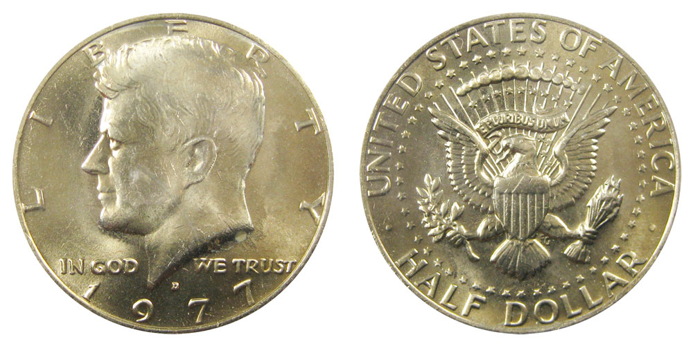 1979-D GEM BU Mint State Kennedy US Half Dollar coin