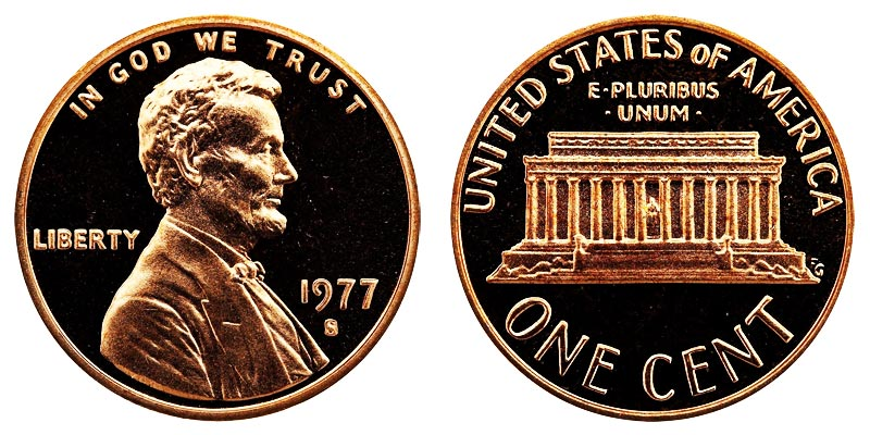 1977-D  LINCOLN MEMORIAL CENT #2