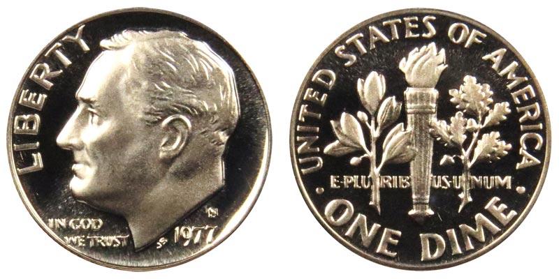 1977-S Proof Roosevelt Dime Deep Cameo!