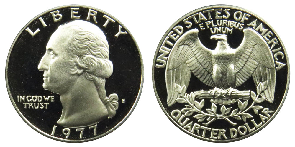 1977 Proof Washington Quarter GEM Deep Cameo DCAM