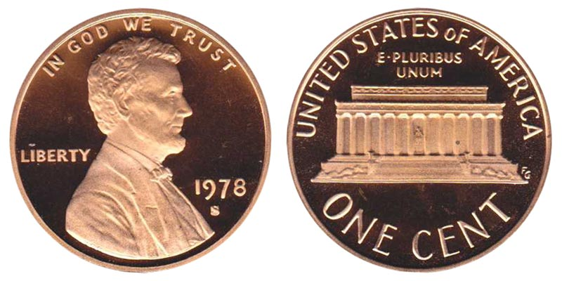 1978 S LINCOLN CENTS PROOF ROLL OF 50
