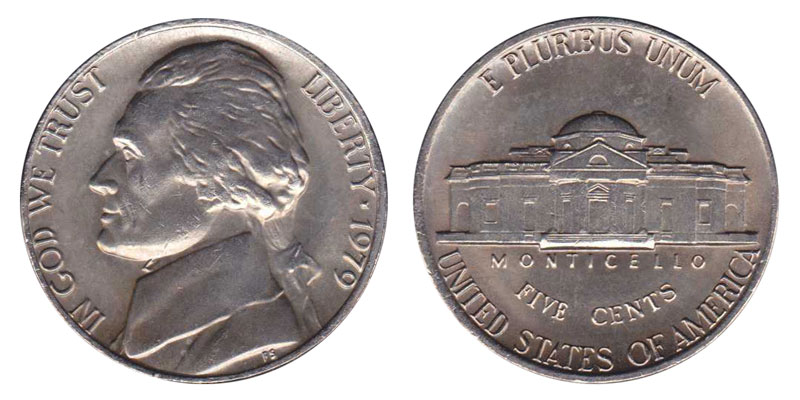 1978  P /& D  Set Of  2 Jefferson Nickels From Mint Set Mint Cello Free Shipping