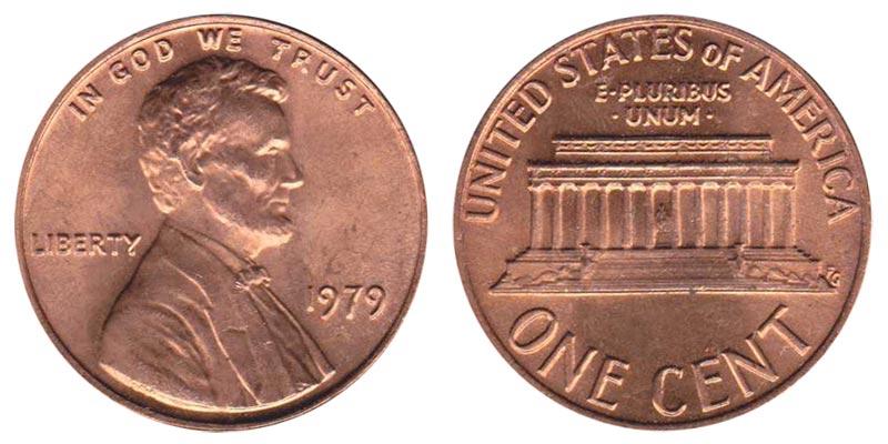 Penny Set *MINT CELLO* 1979 P /& D Lincoln Memorial Cent