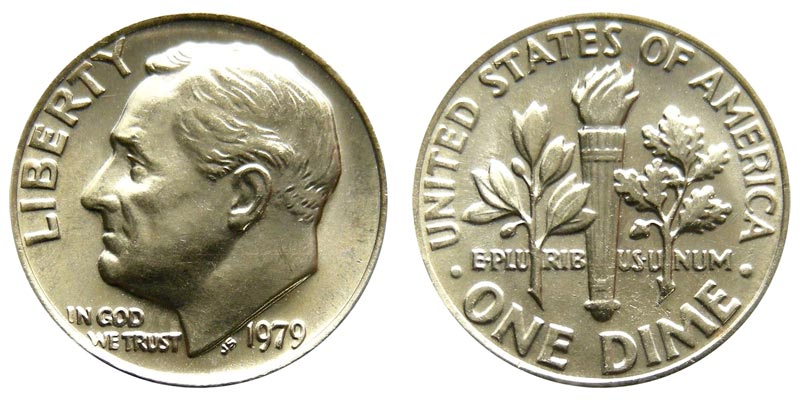 1979 P  Roosevelt Dime In Mint Cello