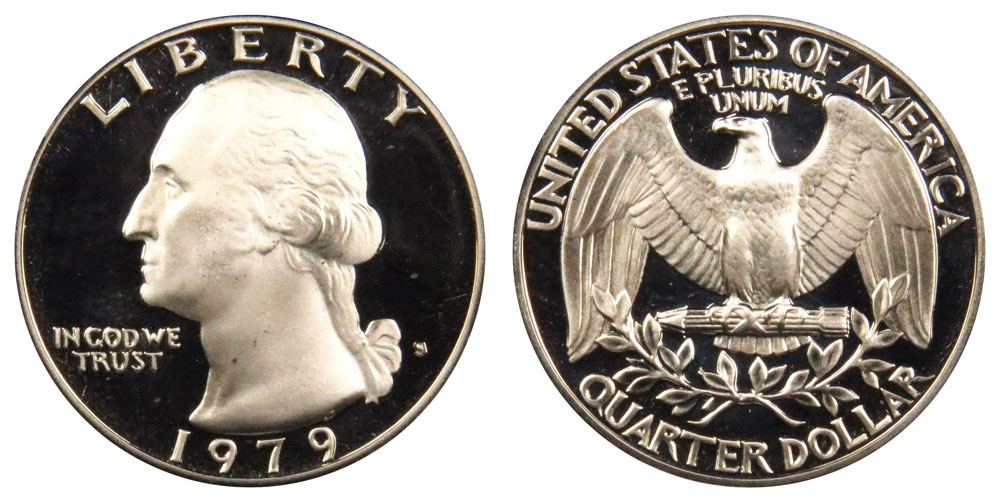 Type 1 Filled S 1979 Gem Deep Cameo Proof Jefferson Nickel Roll 40 US Coins
