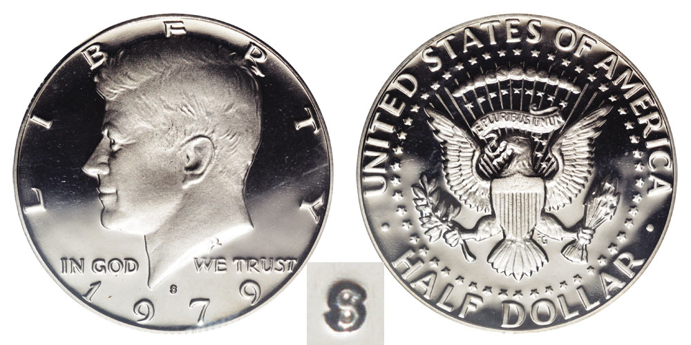 1979 S Kennedy Half Dollars Type 2 Clear S Clad
