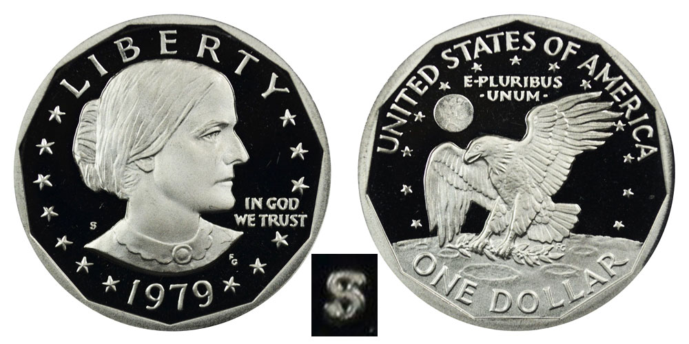 Proof Roosevelt Dime 1979-S Type 2 Clear S
