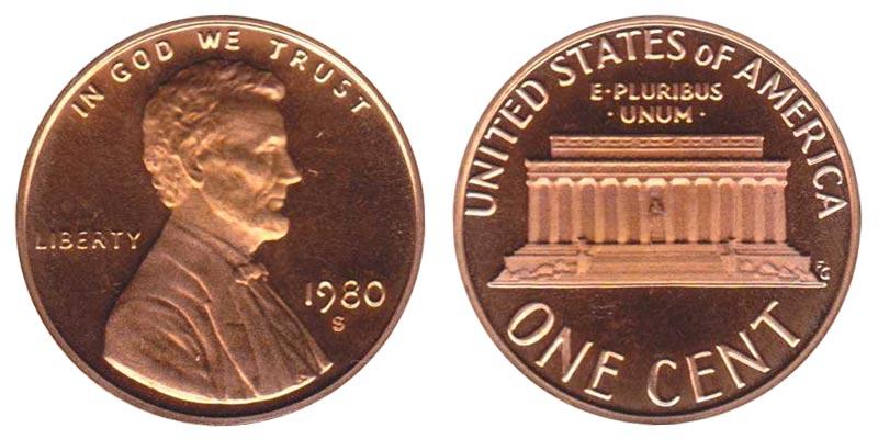 1980 S Lincoln Memorial Penny Coin Value Prices, Photos & Info