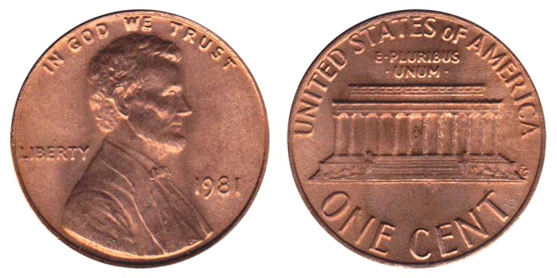 1981 Lincoln Memorial Penny Coin Value Prices Photos Amp Info