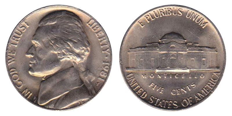 1981 P Jefferson Nickel Coin Value Prices, Photos & Info