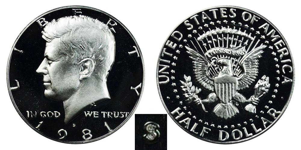 1983 S Kennedy Half Dollar Gem Deep Cameo CN-Clad Proof Coin